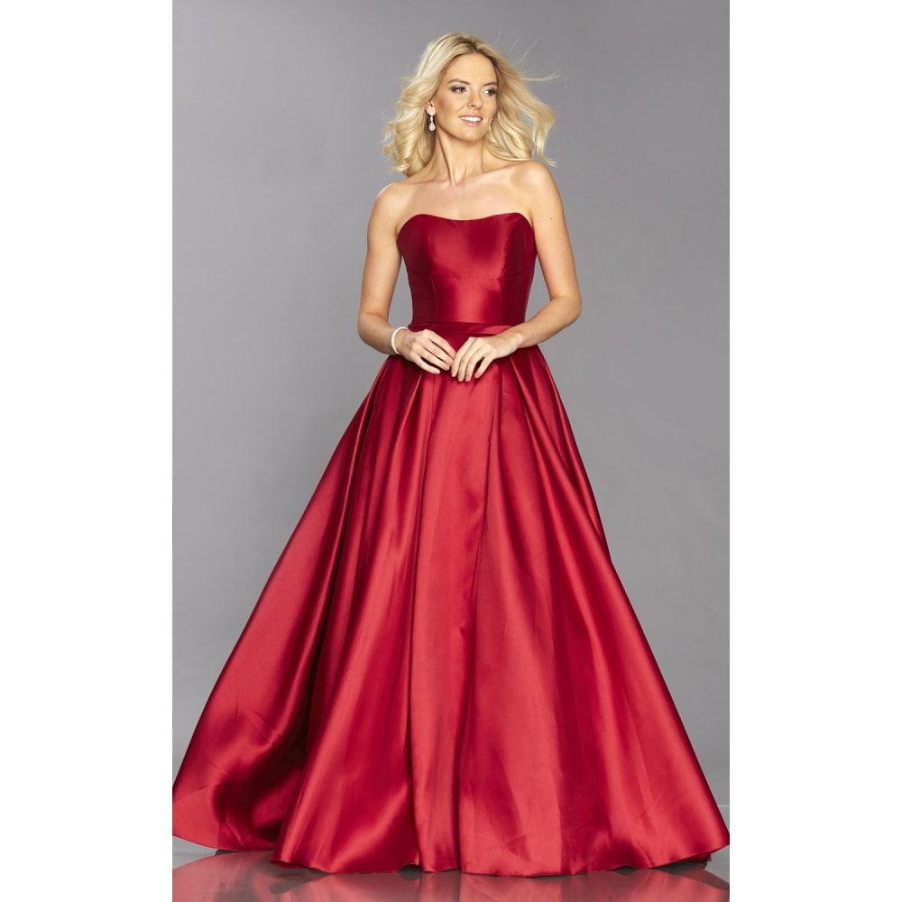 733226be8f5f Tiffanys Illusion Prom COPY - Royal Blue Felicity strapless structured  gown. Dark Red