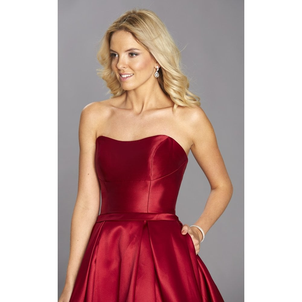 ca960d63a5a1 Tiffany's Illusion Prom Felicity ballgown will pockets in dark red