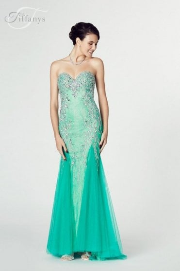 Emerald Mermaid Style Dress, Fantasia