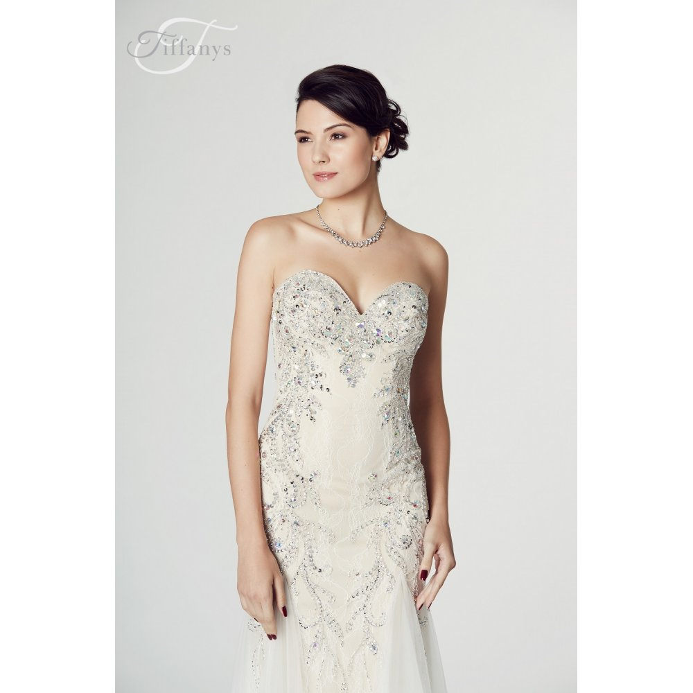 Mermaid Cocktail Dress: Tiffanys Illusion Prom Fantasia Mermaid Style Gown In Ivory