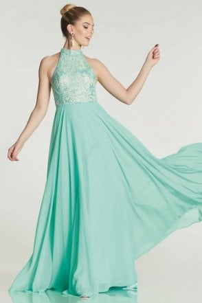 Mint collette embroidered bodice dress