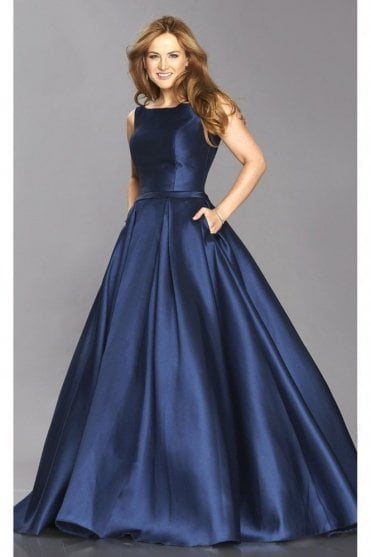 Navy Emily Full skirt pocket dress