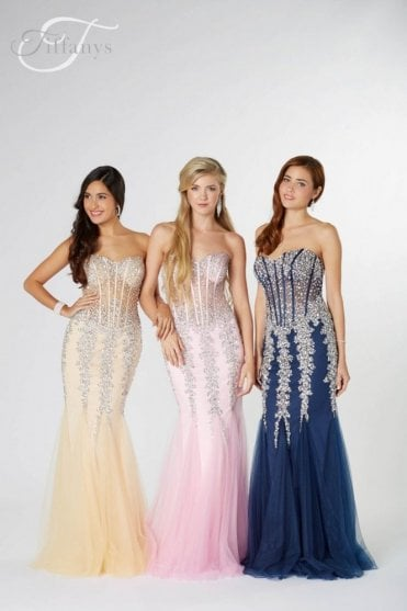 Nude Eliza sparkly embellished Prom Dress