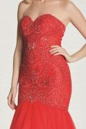 Tiffanys Illusion Prom Red Blondie Lace Net Fishtail Dress