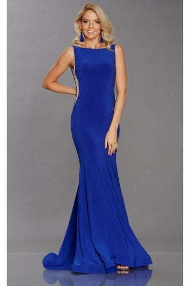 Royal Blue Brooke Low Back Gown
