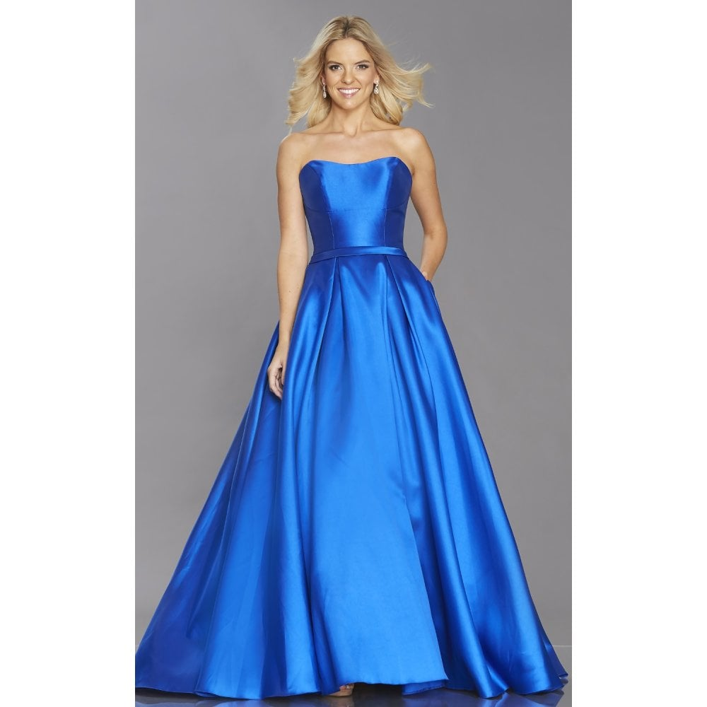 965c8dc8c8fd Tiffany's Illusion Prom Felicity strapless structured prom dress,royal