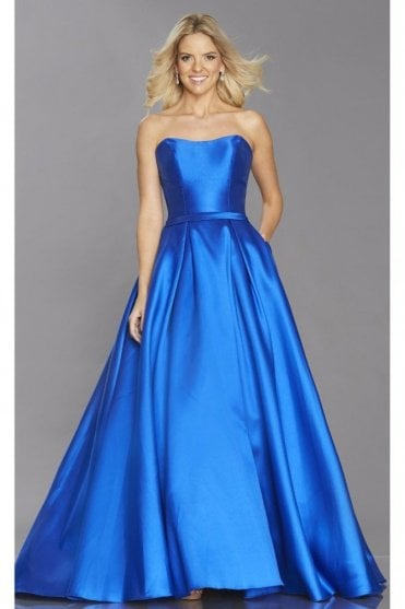 Royal Blue Felicity strapless structured gown
