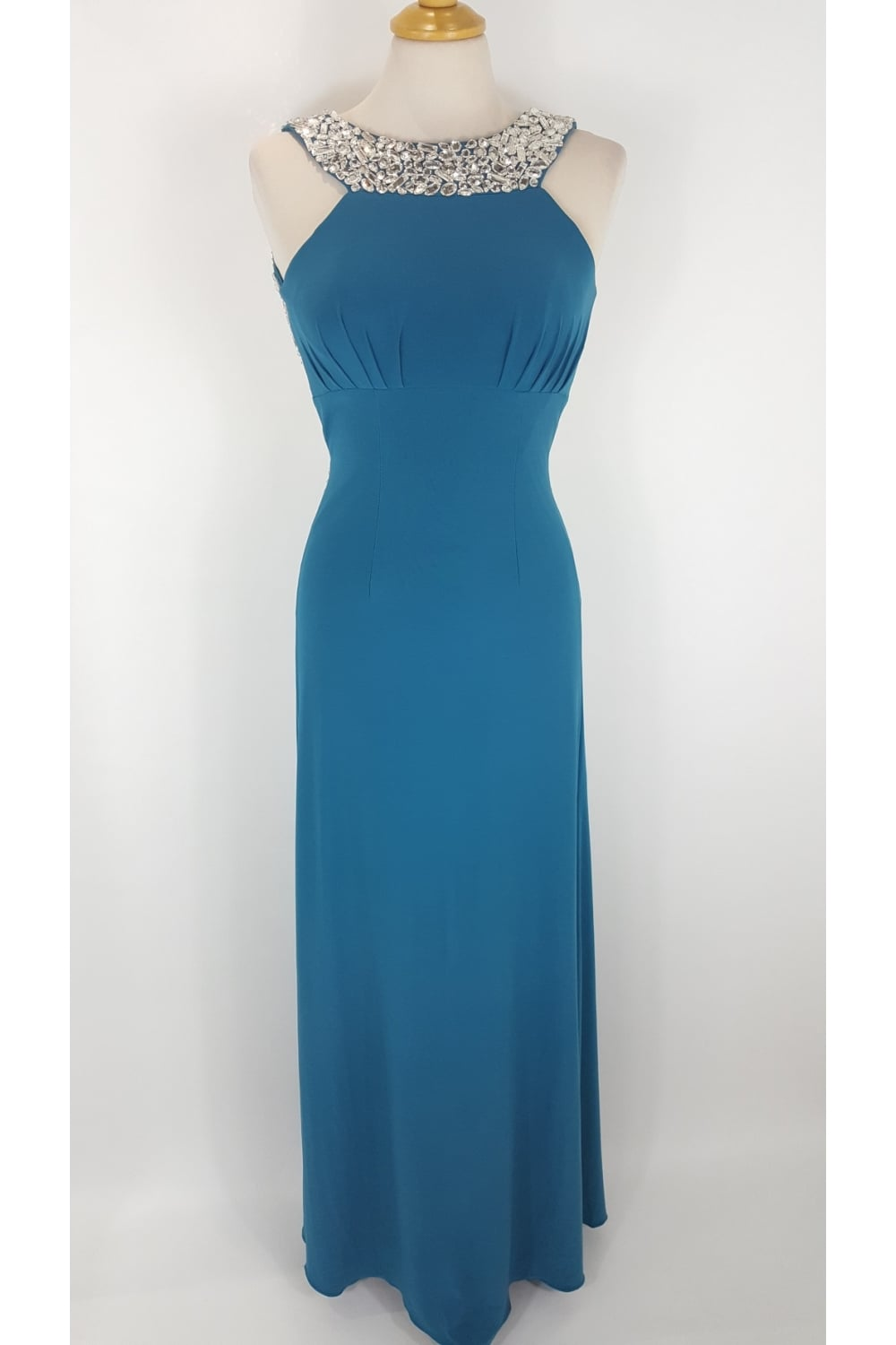 Tiffany Illusion Prom Chicago Teal Evening Dress