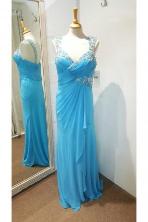 Turquoise Sweetheart chiffon Meredith Dress