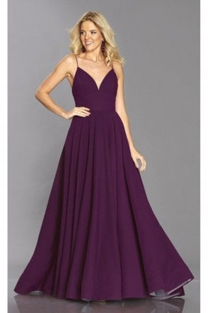 Wine Bella prom dress with pockets