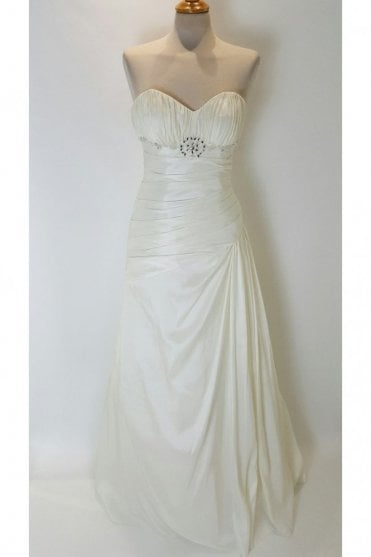 Katrina Ivory Strapless Taffeta Wedding Gown