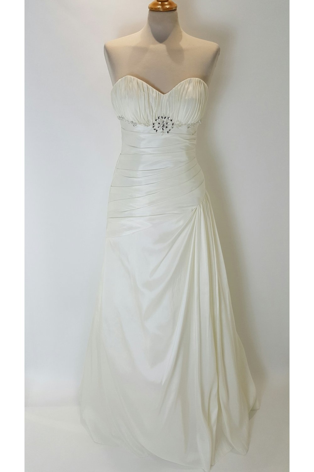 Tiffanys katrina strapless taffeta wedding gown in ivory for Strapless taffeta wedding dress