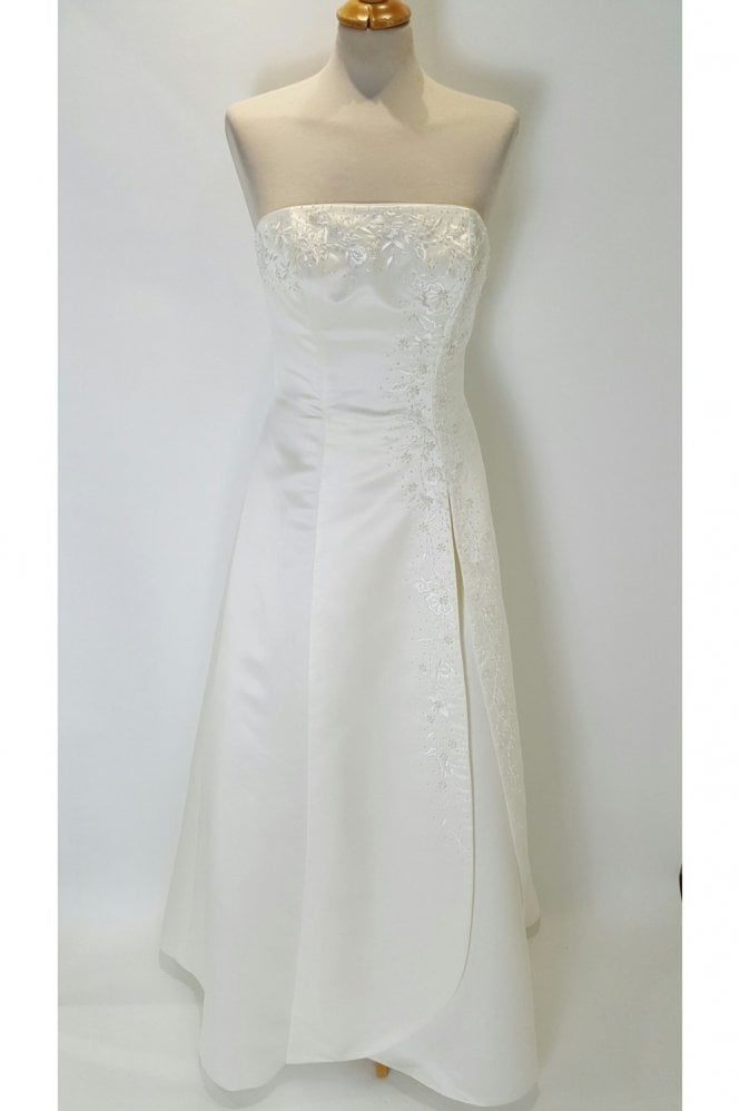 Tiffanys Sally Ivory Strapless Wedding Dress with wrap