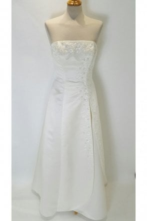 Sally Ivory Strapless Wedding Dress with wrap