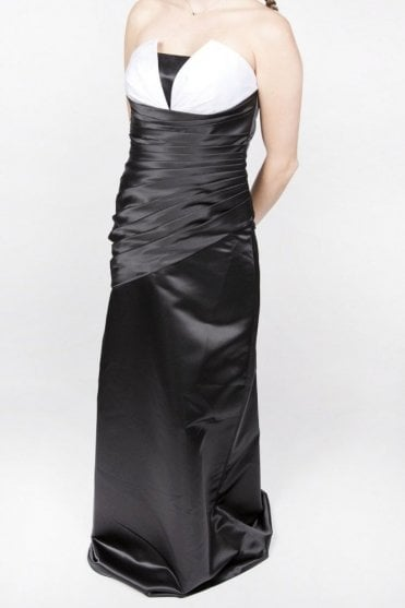 Barbra Prom Dress Black/White