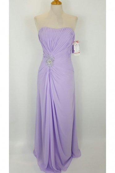 Delilah chiffon bridesmaids dress in Lilac