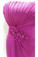 Tiffanys Serenade Georgina Magenta Strapless Chiffon Dress