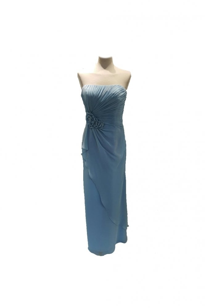 Tiffanys Serenade Georgina Pale Blue Strapless Chiffon Dress