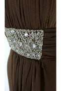 Tiffanys Serenade Libby Chocolate Chiffon Bridesmaids Evening Dress