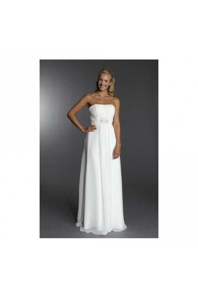 Tiffanys Serenade Libby Ivory strapless Wedding dress