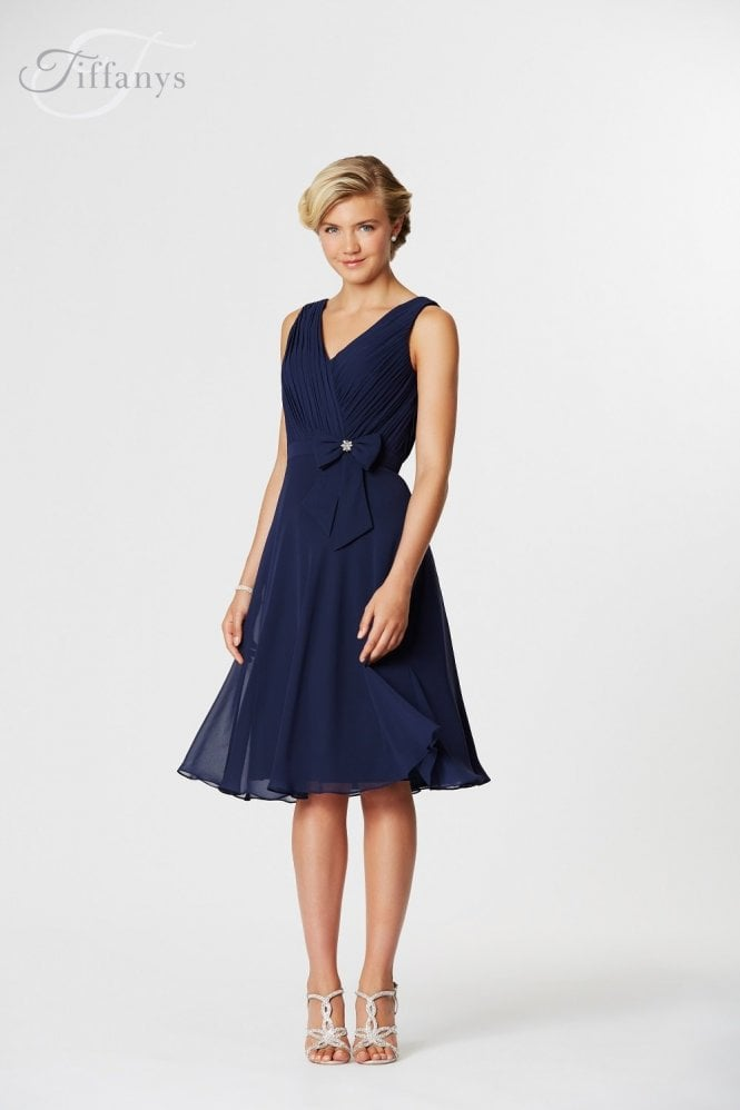 Tiffanys Serenade Phoebe Navy Cocktail Bridesmaids Dress