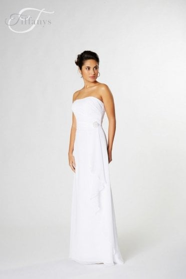 Rachel long chiffon gown in choice of colours