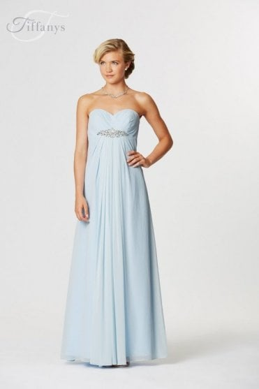 b3ca7ce6f4 Rimini Pale Blue Long chiffon sweetheart dress