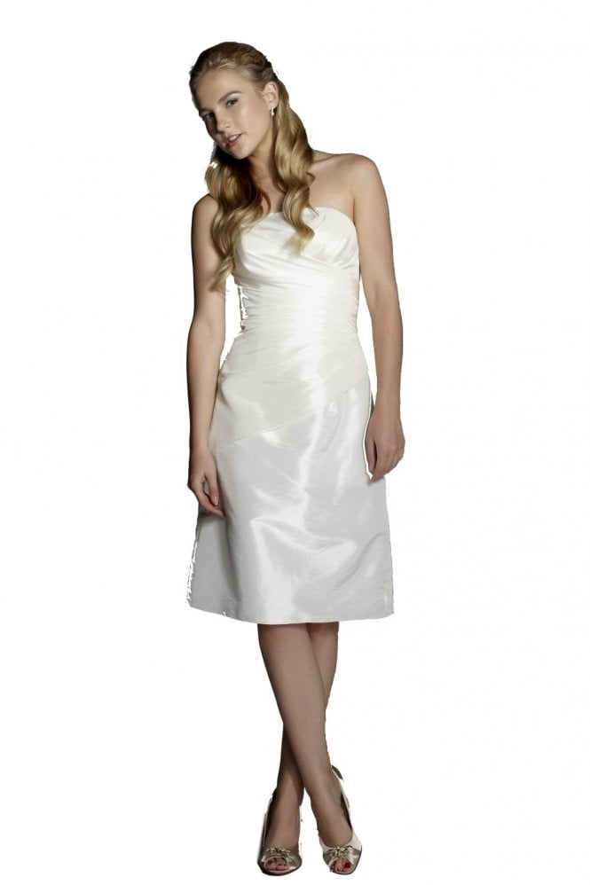 Tiffanys Yvonne Strapless Ivory Cocktail dress