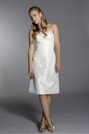 Yvonne Strapless Ivory Cocktail dress
