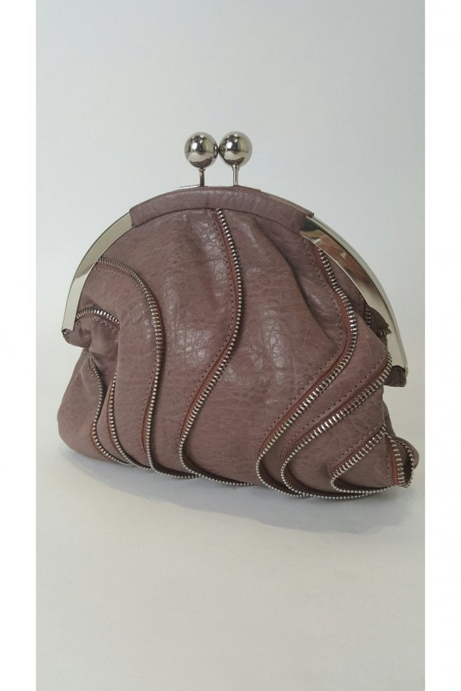 Verdon VT Collection Traffic People HB10051 Dusky Pink Zipper Clutch