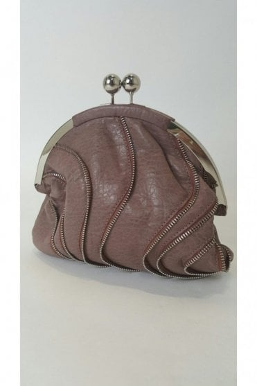 Traffic People HB10051 Dusky Pink Zipper Clutch